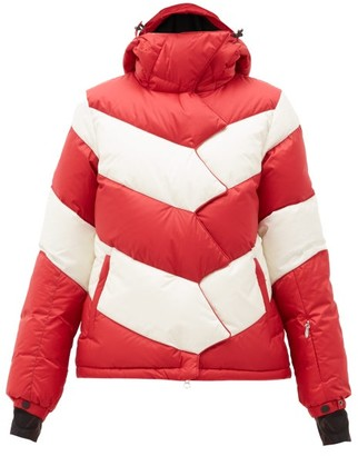 Perfect Moment Chevron Super Down-filled Ski Jacket - Red Stripe
