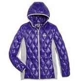Gerry Girls Packable Down Hooded Jacket,Iris