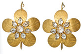 The Sutra Crystal Studded Flower Earrings
