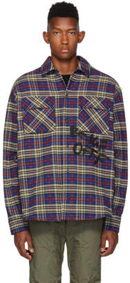 Off-White Blue and Black Flannel Check Shirt