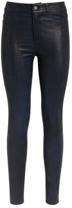 Paige Leather Hoxton Ultra-Skinny Trousers