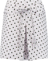 Giambattista Valli Pleated brocade mini skirt