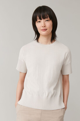 Cos Knitted Round Neck Top
