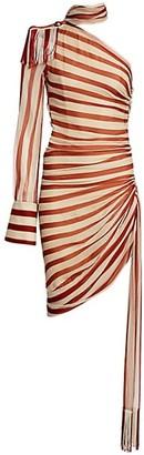 Monse Chiffon Silk Regalia Scarf Dress