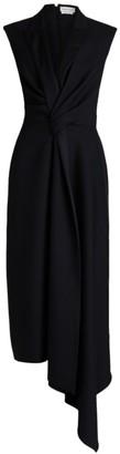 Alexander McQueen Sleeveless Tailored Wool-Blend Cocktail Dress