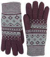 FITS Accessories Argyle Jacquard Knit Gloves - Chenille Lined (For Women)