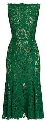 Dolce & Gabbana Sleeveless Lace Midi Dress