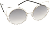 Marc Jacobs Double Trouble Crystal Wire Sunglasses