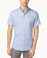 Bar III Men's Wear Me Out Slim-Fit Stretch Easy Care Short Sleeve Dress Shirt, Created for Macy's
