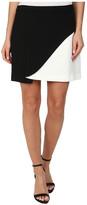 BCBGMAXAZRIA Kiri Contrast Petal Mini Skirt