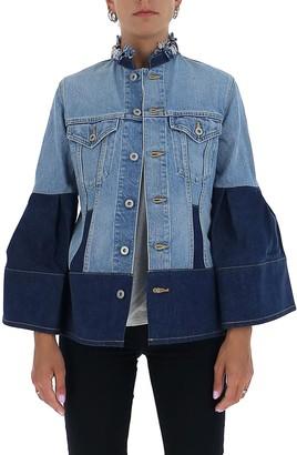 Junya Watanabe Two-Tone Bell Sleeve Denim Jacket
