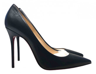 Christian Louboutin So Kate Black Leather Heels