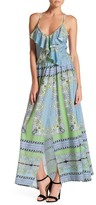Julian Chang Allure Print Jersey Maxi Dress