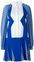 Kenzo 'Diagonal Stripes' dress - women - Silk/Polyester/Spandex/Elastane/Viscose - 8