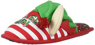 Dearfoams Unisex Holiday Funny Character Ugly Sweater Scuff Slipper