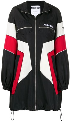 Moschino Broken Logo hoodied jacket