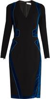 Altuzarra Becca velvet-panel dress