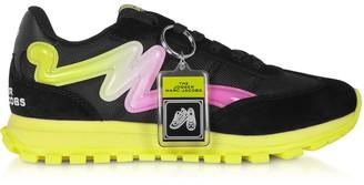 Marc Jacobs The Jogger Black & Neon Nylon Womens Sneakers