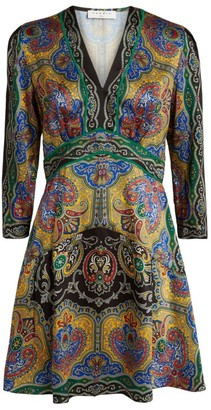 Sandro Paris Printed Paisleymini Dress