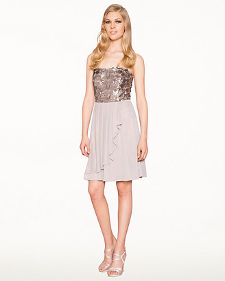 Le Château Sequin Knit Fit & Flare Dress