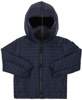 AI Riders On The Storm HOODED NYLON PUFFER JACKET W/ LENSES
