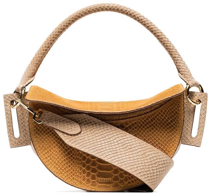 Yuzefi snake-effect leather shoulder bag