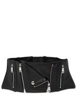 Jean Paul Gaultier High Waist Leather Corset Belt
