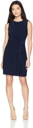 Jessica Howard JessicaHoward Women's Petite Sleeveless Ruffle Dress