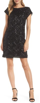 Eliza J Sequin Sheath Dress