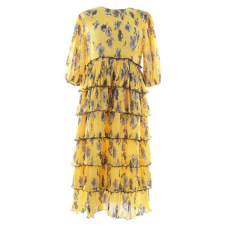 Ganni Yellow Synthetic Dresses