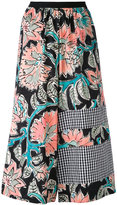Antonio Marras floral cropped palazzo panrts - women - Cotton - I