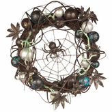 NATIONAL TREE CO National Tree Co 18 Inch Black Spider Wreath
