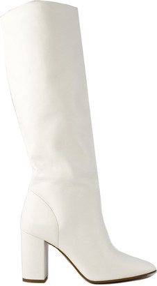 Aldo Castagna White Leather Acqua Boots