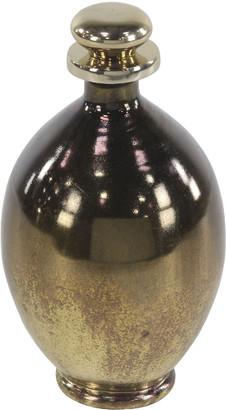 Uma Enterprises Bud-Shaped Gold Glass & Aluminum Bottle