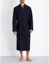 Hugo Boss Waffle-textured Cotton-blend Robe