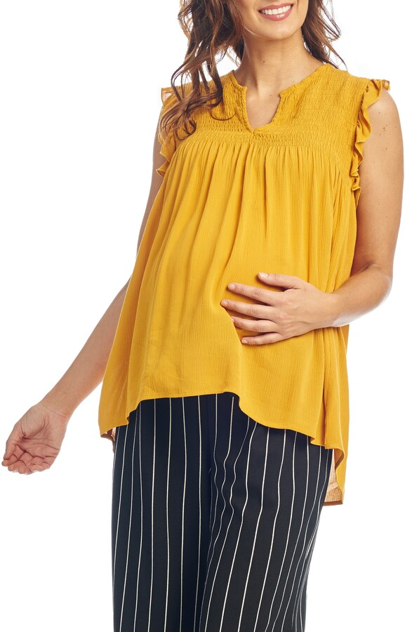 Everly Grey Koa Maternity/Nursing Top