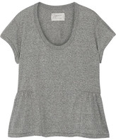 Current/Elliott The Girlie Jersey Peplum T-shirt - Gray