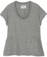 Current/Elliott The Girlie Jersey Peplum T-shirt - Gray