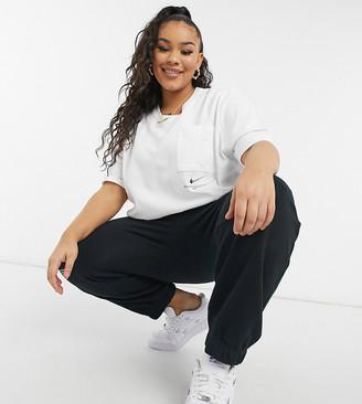 Nike Swoosh Plus oversized t-shirt in white
