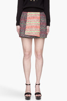 Kenzo Navy rainbow animal print Fashion Skirt