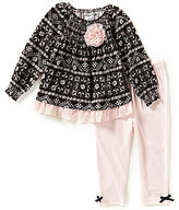 Wendy Bellissimo Baby Girls 12-24 Months Printed Dress and Solid Leggings Set
