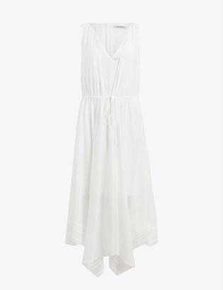 AllSaints Celeste asymmetric-hem crepe dress
