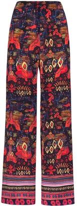 CHUFY Nazca printed wide-leg trousers