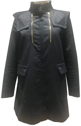 Sandro Black Cotton Coat for Women