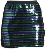 Marc Jacobs The Disco Sequin Stripe Mini Skirt