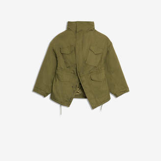 Balenciaga Swing Jacket in khaki cotton twill