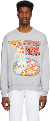 Moschino Grey Moschinos Pizza Sweatshirt