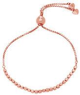 Lord & Taylor Rose Goldtone Cubed Bead Slider Necklace