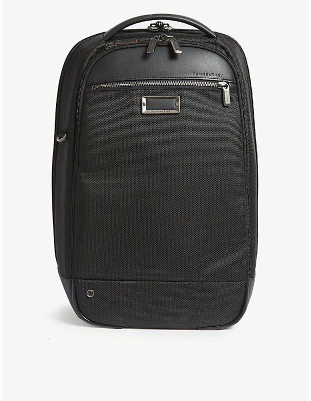Briggs & Riley Black @Work Slim Nylon Backpack