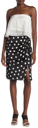 Rachel Roy Polka Dot Ruched Skirt